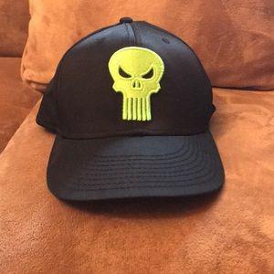 Punisher Black Flex Fit Ballcap